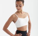 Sport-BH i funktionsmaterial i svart eller vitt