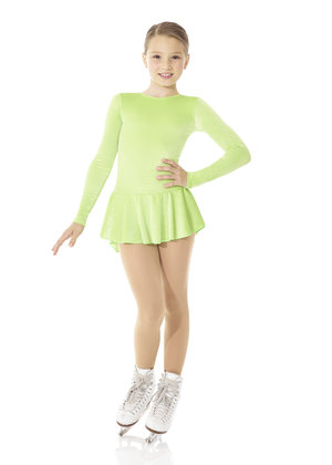 Limegrön klänning i glittersammet