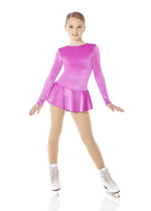 Rosa klänning i glittersammet