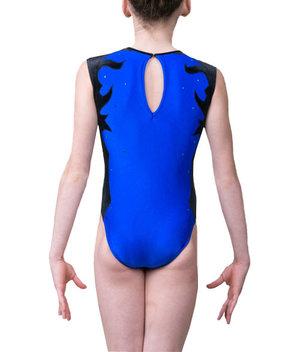 Blå gymnastikdräkt  från RG Leotard