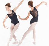 Ärmlös dansbody med detaljerad mesh