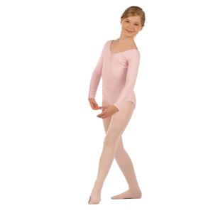 Långärmad barndräkt i svart, vitt eller rosa