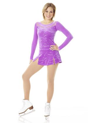 Klänning i lila glittermönstrad sammet