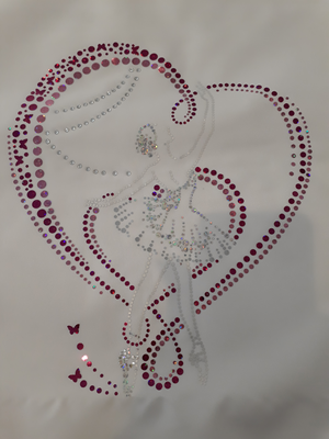 Balettdansös i hjärta - hologram och kristall