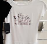 Rosa cheerleadingtryck med hologram