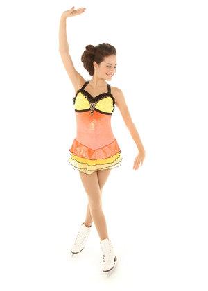 Klänning i gult och orange