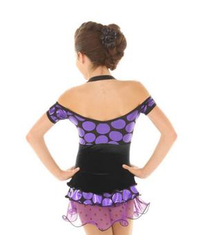 Prickig klänning i svart och lila