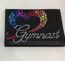 Gymnastikplånbok med glittrigt motiv