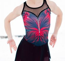 Red butterfly dress från elitexpression