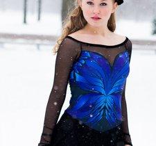 Blue butterfly dress från elitexpression