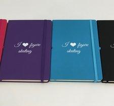 Anteckningsbok I love skating i flera färger
