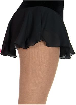 Svart kjol i georgette och sammet