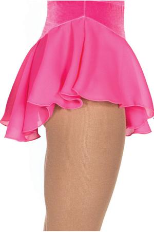 Rosa kjol i georgette och sammet