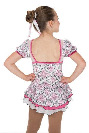 Vit mönstrad klänning