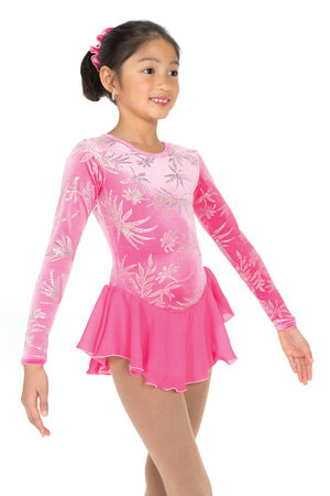 Rosa klänning med tryck i silverglitter