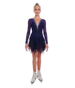 Tävlingsklänning i mörkblått från RG Leotard