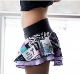 Mönstrad kjol med lila underkjol från Elitexpression