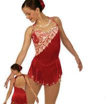 Sammetsklänning med spetsdekor