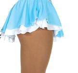 Ljusblå kjol med underkjol i vitt