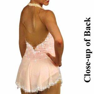 Ljusrosa halterneckklänning