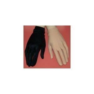 Tävlingshandskar i svart eller hudfärgat