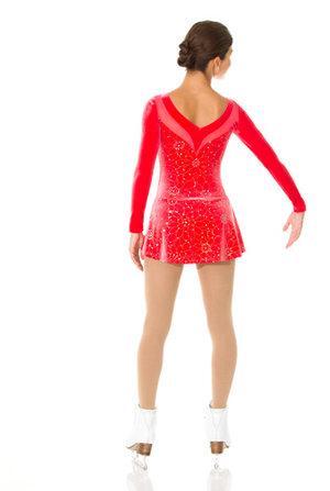 Klänning i röd glittrig sammet