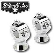 "Biltwell Stainless 1"" Risers Pol"