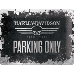 Tin Sign 30*40 cm HD skull parking  logo