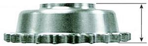"""1/2"""" Offset Drev 5V B/T 85-/1994-06, 23T"""