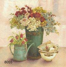 Blommor i vas  8055