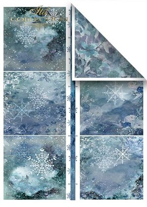 Scrapbooking papers SCRAP-049 ''Christmas in blue''