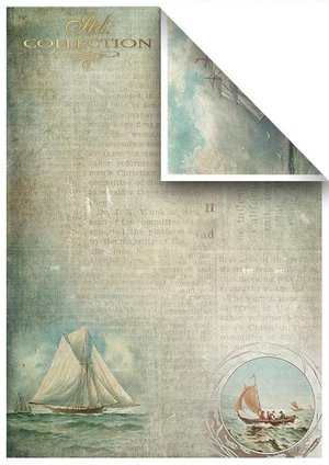 Scrapbooking papers SCRAP-048 ''Nautical expedition''
