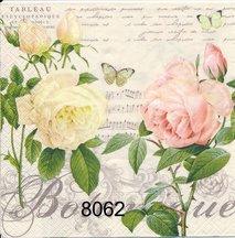 Gul och rosa ros  8062