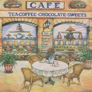 Cafe( 2bilder på servetten)