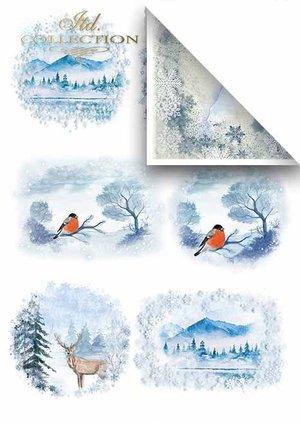 Scrapbooking papers SCRAP-019 ''Winter''