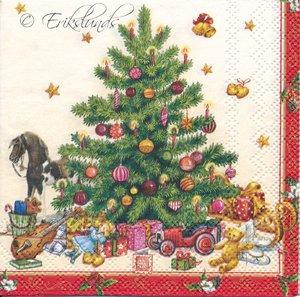 Julgran med paket