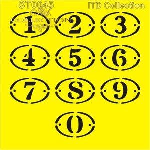 Stencil 16X16 cm  siffror   ST0045A