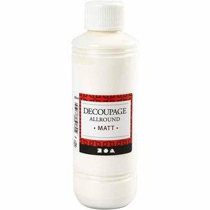 Decoupage lim-lack, Matt, 250 ml