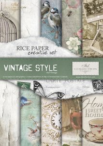 Rice paper  Creative Set RS012 Vintage Style