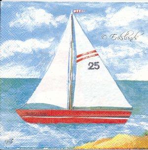 Fyrtorn med segelbåt 2 olika motiv    seh5019