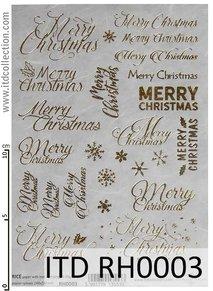A5 storlek Hot print Guld  text Merry Christmas