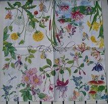Älvor bland blommor och blad