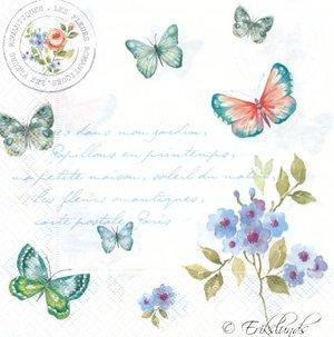 Fjärilar med brevtext   3182