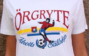 T-shirt, vit i retromodell