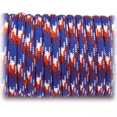 Paracord 550 - Red Blue White Camo