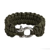 Paracord armband med shackel i metall