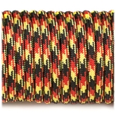 Paracord 550 - Black / Red / Yellow