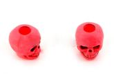 Skull bead Neon Red