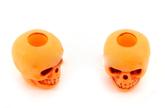 Skull bead Neon Orange