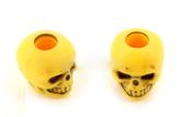 Skull bead Yellow